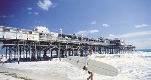 Praia Cocoa Beach próxima a Orlando 1