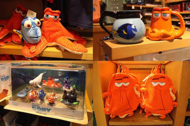Procurando Dory nos parques da Disney em Orlando: produtos do filme Procurando Dory