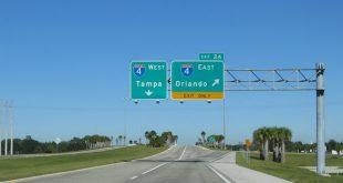 Viagem de carro de Orlando à Tampa ou de Tampa à Orlando