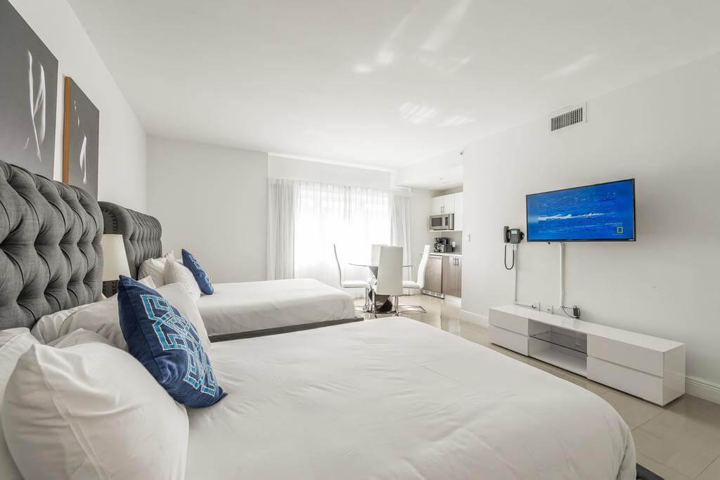 Hotéis bons e baratos em Miami: Hotel Belleza - quarto