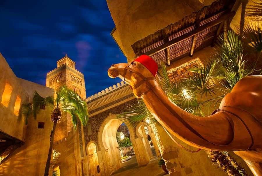 Área e pavilhão de Marrocos no Disney Epcot