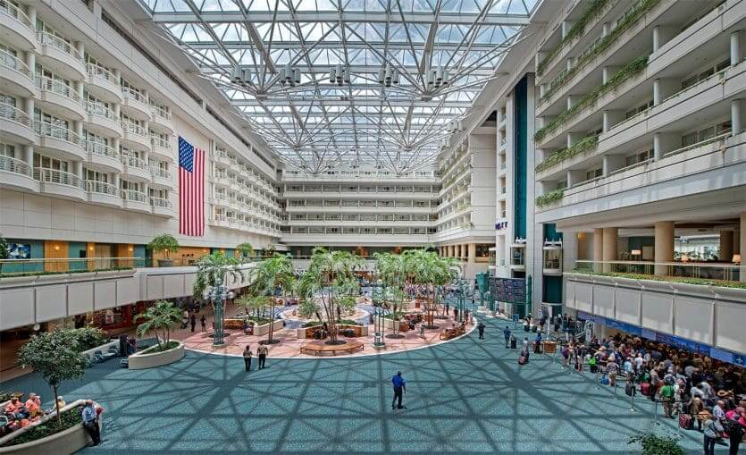 Deficientes físicos na Disney e Orlando: Aeroporto Internacional de Orlando