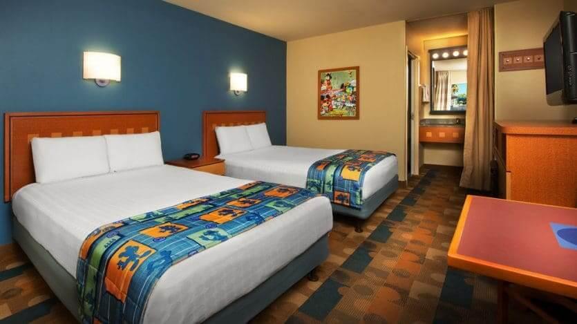 Disney's Pop Century Resort: quarto com 2 camas queen