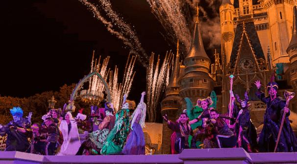 Shows, paradas e apresentações no parque Disney Magic Kingdom Orlando: Mickey's Not-So-Scary Halloween Party