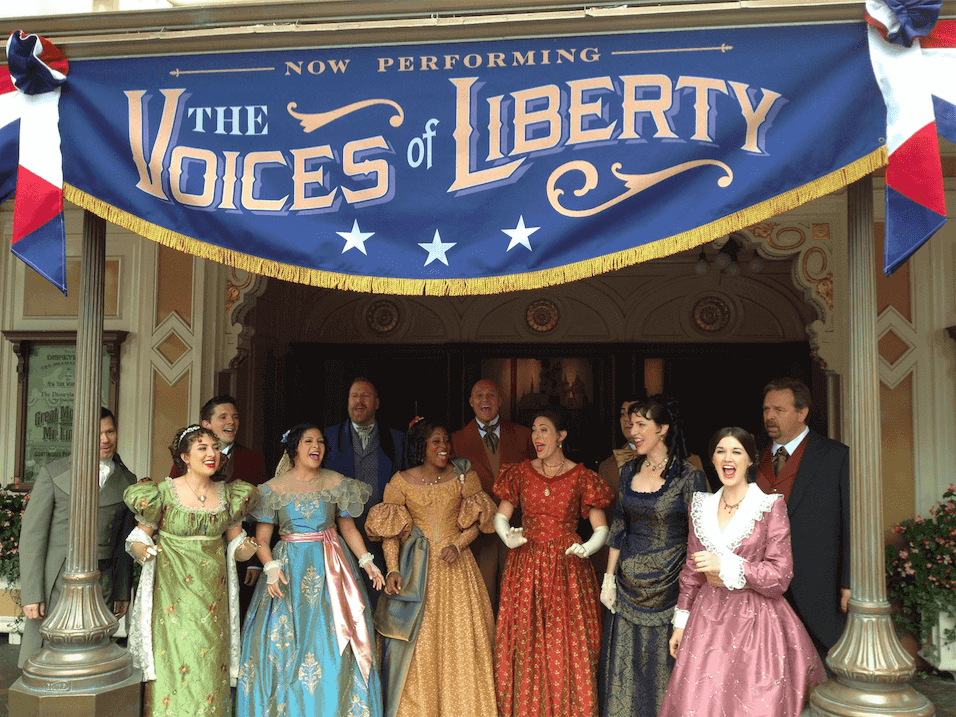 Shows, paradas e apresentações no parque Disney Epcot Orlando: Voices of Liberty