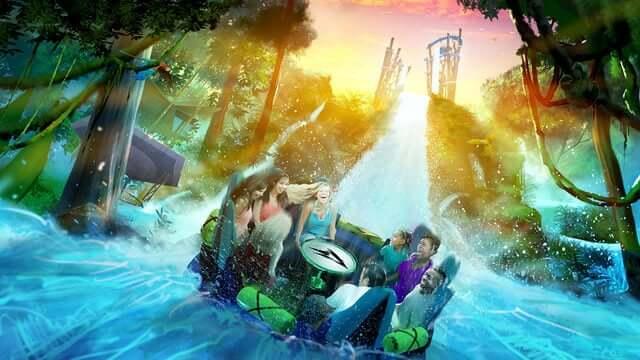 Nova atração do SeaWorld em Orlando: Infinity Falls correnteza